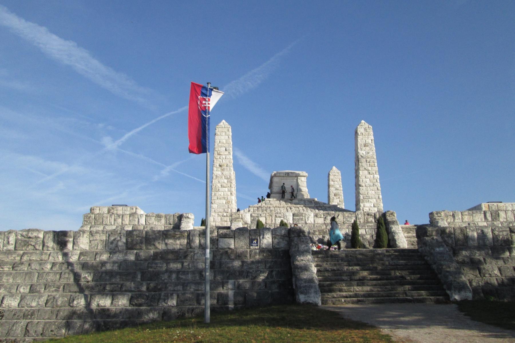 Se slovenskou vlajkou